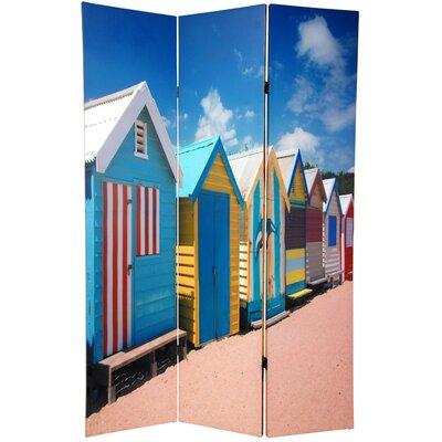 Beach Cabana 3 Panel Room Divider