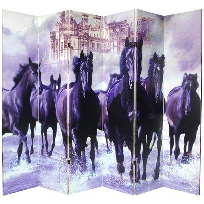 Horses 6 Panel Room Divider