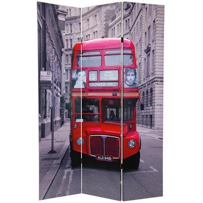 Double Decker Bus 3 Panel Room Divider
