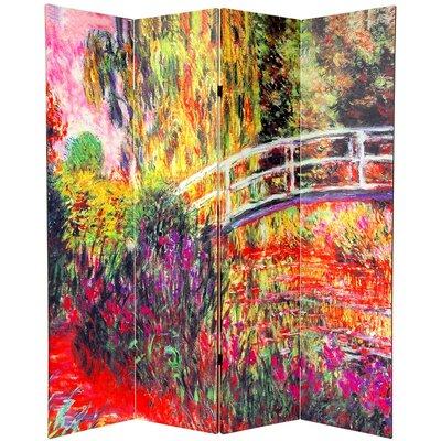 Cressex Monet 4 Panel Room Divider