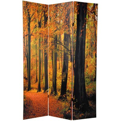 Woolery Autumn Trees 3 Panel Room Divider