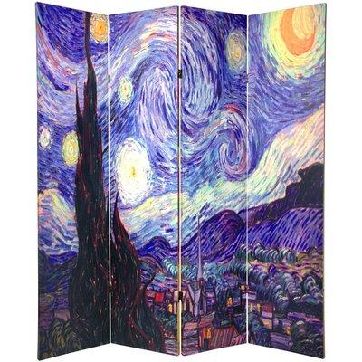 Wellston Van Gogh 4 Panel Room Divider