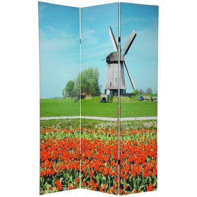 Windmills 3 Panel Room Divider