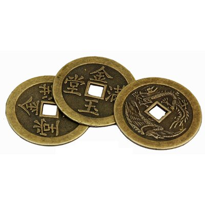 Oriental Furniture Single Round Coin Sculpture