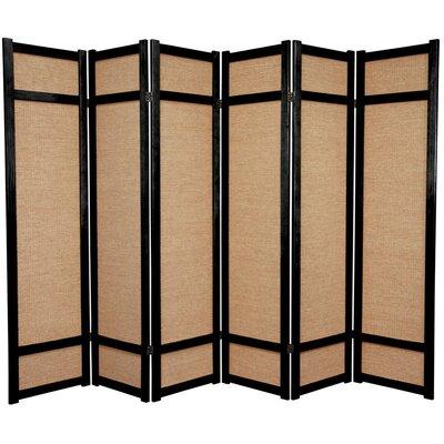 Clarke Shoji 6 Panel Room Divider Color: Black