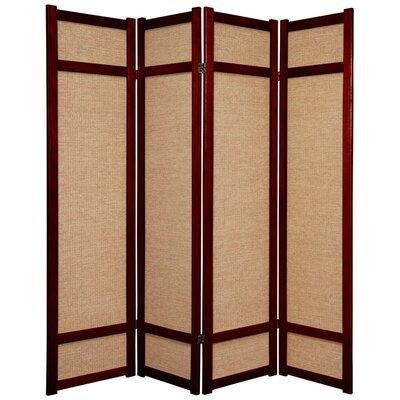 Clarke Shoji 4 Panel Room Divider Color: Rosewood
