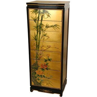 Oriental Furniture Gold Leaf 8 Drawer Cabinet