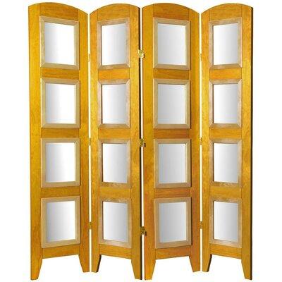 Salvaggio 4 Panel Room Divider Color: Honey