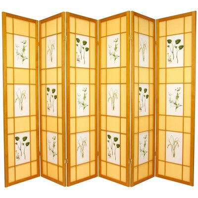 Amy Shoji 6 Panel Room Divider Color: Honey