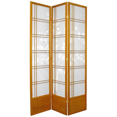 Marla Tree Room Divider Number of Panels: 3 Panels, Color: Honey