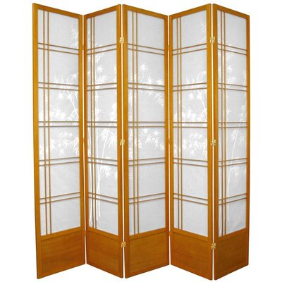 Marla Tree Room Divider Number of Panels: 5 Panels, Color: Honey