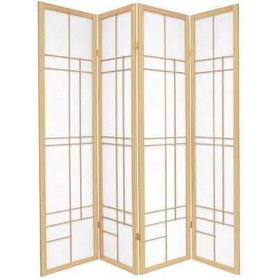 Clara Shoji 4 Panel Room Divider Color: Natural