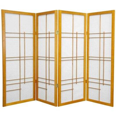 Clara Shoji 4 Panel Room Divider Color: Honey