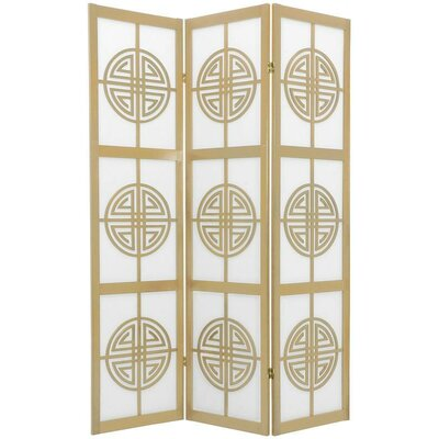 Courtney Shoji 3 Panel Room Divider Color: Natural