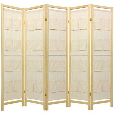 Sandstrom Pockets Shoji Room Divider Number of Panels: 5