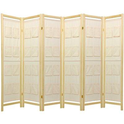 Sandstrom Pockets Shoji Room Divider Number of Panels: 6