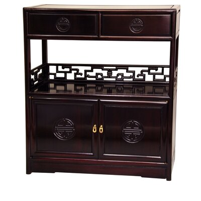 Long Life Display 2 Drawer Accent Cabinet Color: Rich Dark Cherry