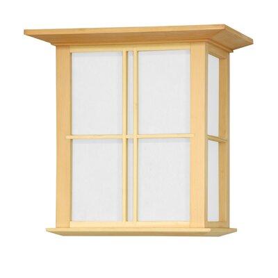 Oriental Furniture Japanese Cross Lattice Wall Sconce
