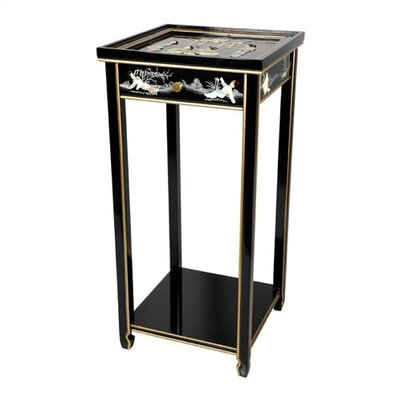 Oriental Multi-Tiered Plant Stand Color: Black