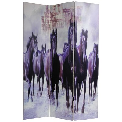 Horses 3 Panel Room Divider