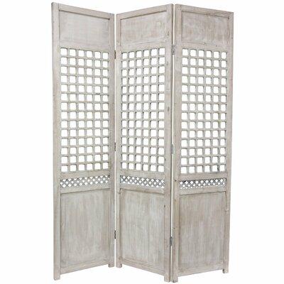 Open Lattice 3 Panel Room Divider