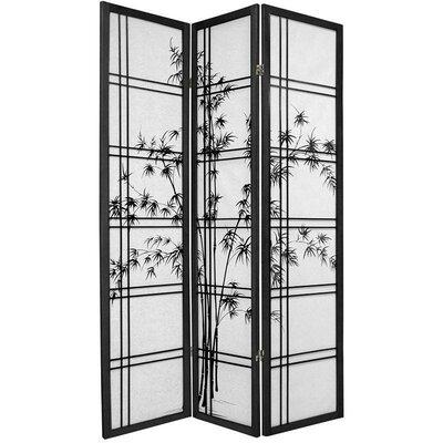 Lynn Shoji 3 Panel Room Divider Color: Black