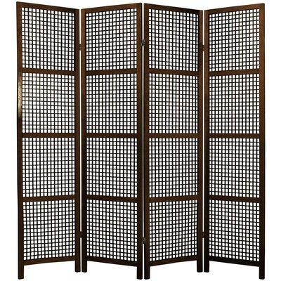 Stoehr Shoji 4 Panel Room Divider Color: Walnut