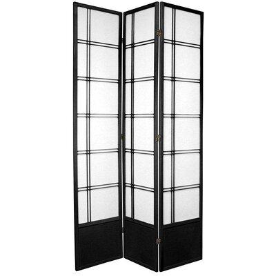 Marla Room Divider Number of Panels: 3 Panels, Color: Black