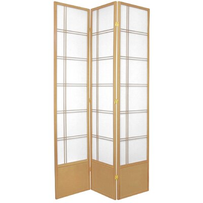 Marla Room Divider Number of Panels: 3 Panels, Color: Natural