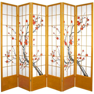 Rothermel Shoji Room Divider Numbers of Panels: 6, Finish: Honey