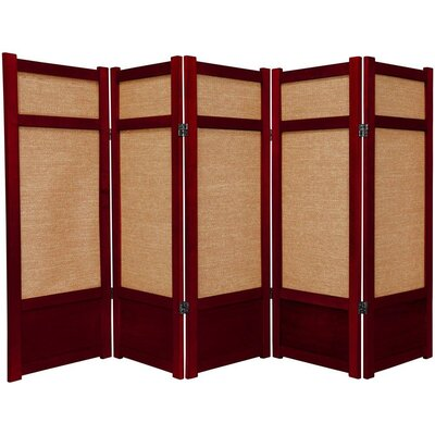 Clarke Shoji 5 Panel Room Divider Color: Rosewood