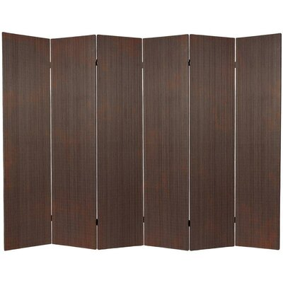 Sankey 6 Panel Room Divider Color: Black
