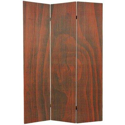 Sanroman 3 Panel Room Divider Color: Walnut