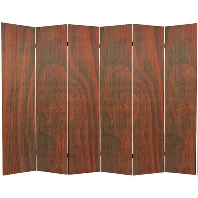 Sankey 6 Panel Room Divider Color: Walnut