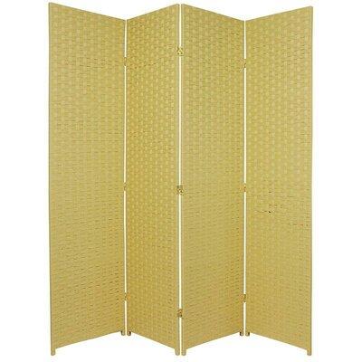 San Rafael 4 Panel Room Divider Color: Dark Beige