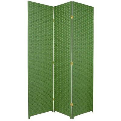 Sangster 3 Panel Room Divider Color: Light Green