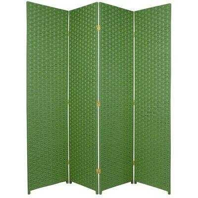 San Rafael 4 Panel Room Divider Color: Light Green