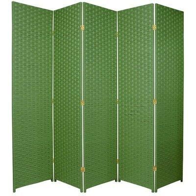 Sand City 5 Panel Room Divider Color: Light Green