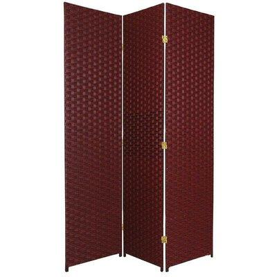 Sangster 3 Panel Room Divider Color: Red / Black