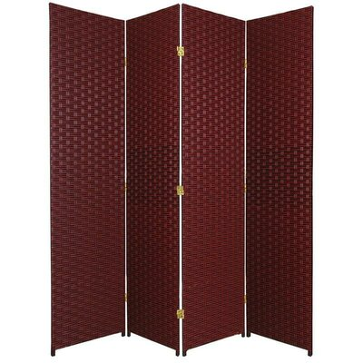 San Rafael 4 Panel Room Divider Color: Red / Black