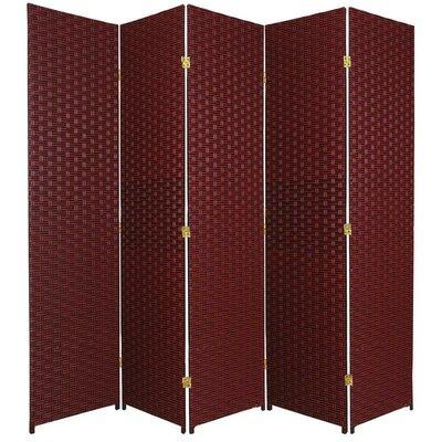 Sand City 5 Panel Room Divider Color: Red / Black