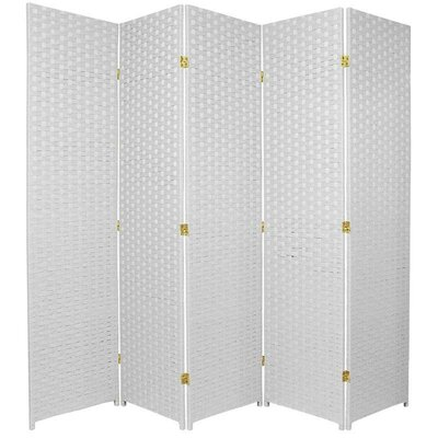 Sand City 5 Panel Room Divider Color: White