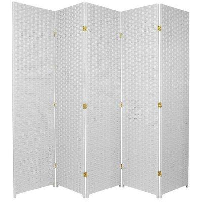 Sand City 5 Panel Room Divider Color: White