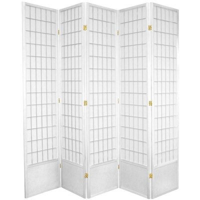 Salter Shoji 5 Panel Room Divider Color: White
