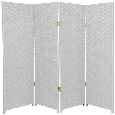 Sanger 4 Panel Room Divider Color: White