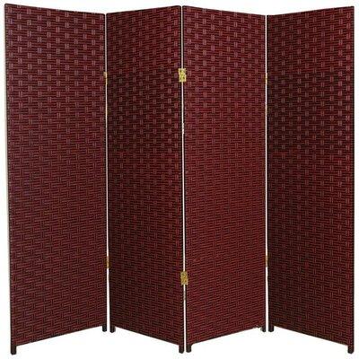 Sanger 4 Panel Room Divider Color: Red / Black