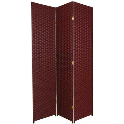 Sanderling 3 Panel Room Divider Color: Red / Black