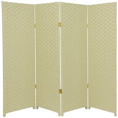 Sanger 4 Panel Room Divider Color: Cream