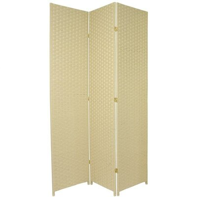 Sanderling 3 Panel Room Divider Color: Cream