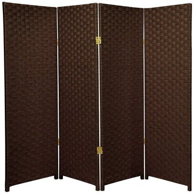 Sanger 4 Panel Room Divider Color: Dark Mocha